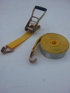 2-delige spanband/50MM/5000KG/12M/reflectie/wit