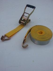 2-delige spanband/50MM/5000KG/15M/reflectie/wit
