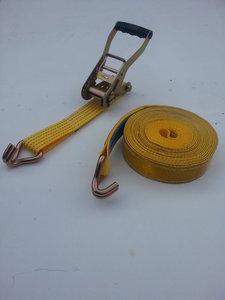 2-delige spanband/50MM/5000KG/10M/reflectie/geel